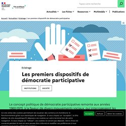 Démocratie participative : les premiers dispositifs