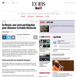 En Russie, une carte participative pour dénoncer la fraude électorale