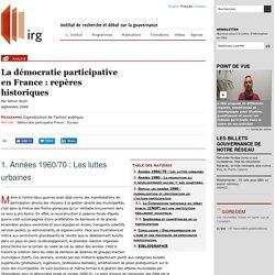 La démocratie participative en France: repères historiques