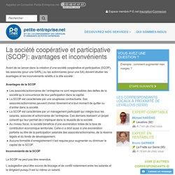 La société coopérative et participative (SCOP): avantages et inconvénients, Statut d'entreprise