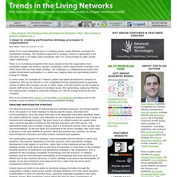 3 steps to creating participative strategy processes in organizations - Trends in the Living Networks