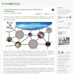 L'essor des sciences citoyennes, participatives et collaboratives | Knowtex Blog