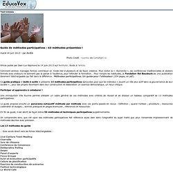 Guide de méthodes participatives: 63 méthodes présentées!