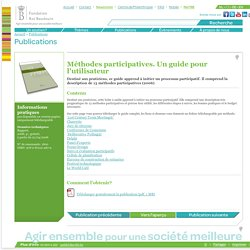 Methodes participatives. Un guide pour lutilisateur