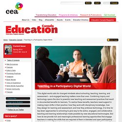 Teaching in a Participatory Digital World | Canadian Education Association (CEA)