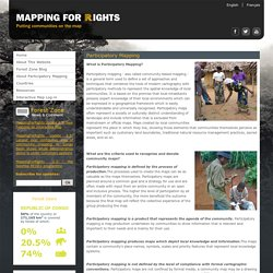 Participatory Mapping: presenting spatial knowledge of local communities