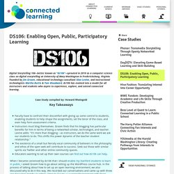 DS106: Enabling Open, Public, Participatory Learning
