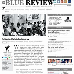 The Promise of Participatory Democracy - The Blue Review