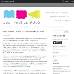 MOOC to POOC: Moving from Massive to Participatory