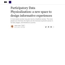 Participatory Data Physicalization: a new space to design informative experiences