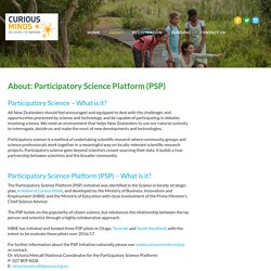 About: Participatory Science Platform - Science Into Action