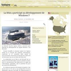 La NSA a participé au développement de Windows 7 [Voltaire]