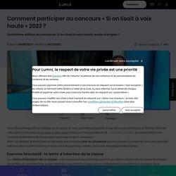 Comment participer au concours « Si on lisait à voix haute » 2021 ? - Français