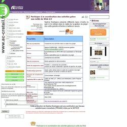 Participer à la coordination des activités grâce aux outils du Web 2.0