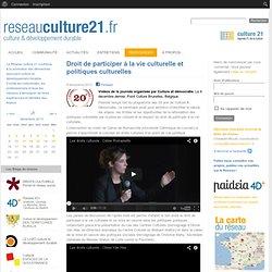Droit de participer à la vie culturelle et politiques culturelles