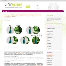 Est-ce que le fait de participer à Vigie-Nature École change les relations des élèves avec la nature?