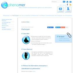 Participer - Phenomer