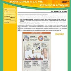 Participer à la vie démocratique