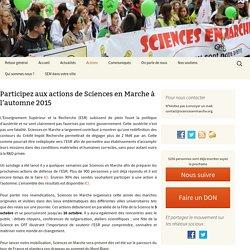 Participez aux actions de Sciences en Marche à l'automne 2015