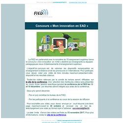 """Participez au concours """"Mon innovation en EAD"""""""
