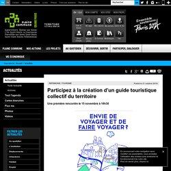 Participez à la création d'un guide touristique collectif du territoire