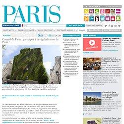 Conseil de Paris : participez à la végétalisation de Paris !