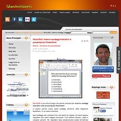 ParticiPoll: inserire sondaggi interattivi in presentazioni PowerPoint
