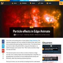 Particle effects in Edge Animate