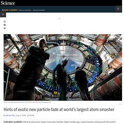 Hints of exotic new particle fade at world's largest atom smasher