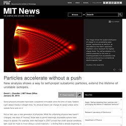 Particles accelerate without a push
