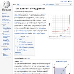 Time dilation of moving particles