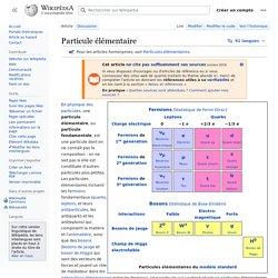 Particule élémentaire