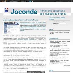 Le cas particulier des artistes morts pour la France