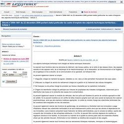 Décret n°2006-1691 du 22 décembre 2006 portant statut particulier du cadre d'emplois des adjoints techniques territoriaux. - Article 3