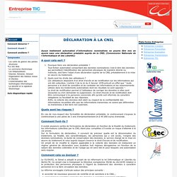 Déclaration à la CNIL