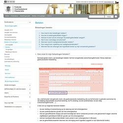 Betalen - Particulieren - FOD Financiën