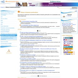 Élèves à besoins particuliers - Pédagogie - Direction des services départementaux de l'éducation nationale du 16 - Pédagogie - Académie de Poitiers
