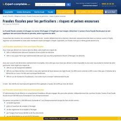 Fraudes fiscales pour les particuliers : risques et peines encourues