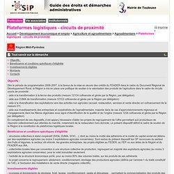 Mairie de Toulouse : Guide des démarches : Particuliers - Plateformes logistiques - circuits de proximité