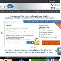 Certificat SSL pour Particuliers et Professionnels dès 25€ / an