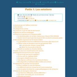 Partie 1: Lessolutions