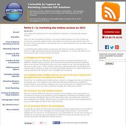 Partie 2 : Le marketing des médias sociaux en 2011