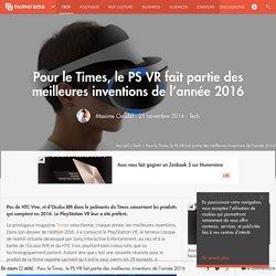 Pour le Times, le PS VR fait partie des meilleures inventions de l'année 2016 - Tech