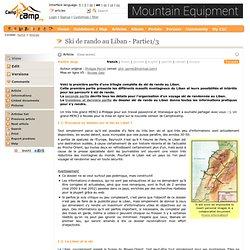 Dossier complet sur le ski de rando au Liban - Partie1/3