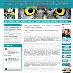 Partij voor de Dieren: Snel verbod schadelijk landbouwgif voor bijen