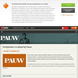 Partijleiders in debat bij Pauw
