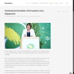 Partiledartal Almedalen 2016 Isabella Lövin, Miljöpartiet.
