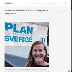 Partiledartal Almedalen 2016 Anna Kinberg Batra, Moderaterna.