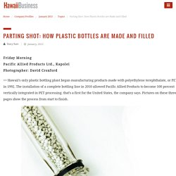 Parting Shot: How Plastic Bottles are Made and Filled