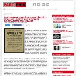 PartiPris.info » Le glorieux passé de l'austérité 1 – 1918-1925 : Dette, inflation et dogmatisme monétaire